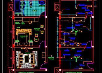 Hotel Suite Room Interior Floor Plan DWG Drawing File