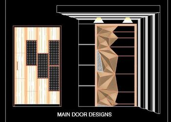 Main Entrance Door Design DWG Block