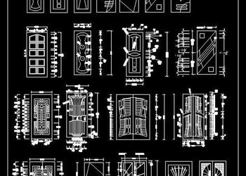 Metal and Steel Door Autocad blocks dwg free download