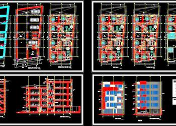 Multi-family Residential Building (10X25 MT.) Autocad Architecture dwg file download