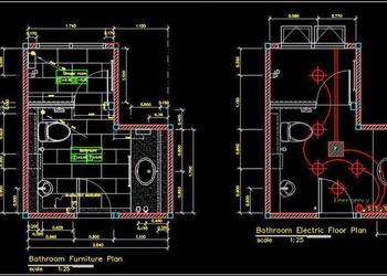 Toilet Plan Detail DWG File Free Download