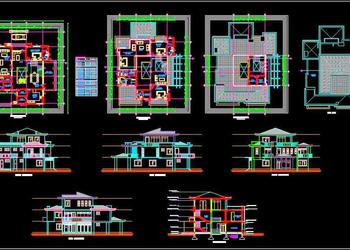 Duplex House (70'x80') Autocad House Plan Drawing Download