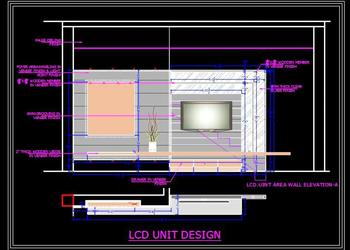 Modern TV Unit- Autocad Working Drawing Download
