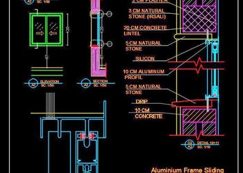 Aluminium Window Detail dwg Autocad Drawing Download