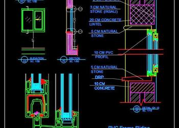 UPVC Sliding Window Detail dwg Autocad Drawing Download