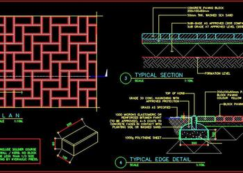 Concrete Pavement Floor Construction DWG Cad Details