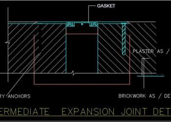 Intermediate Expansion Joint Cad Drawing DWG Free Download