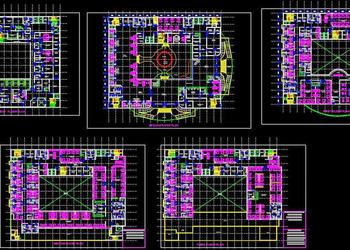 Multi Speciality Hospital Floor Plans DWG Download