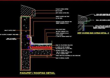 Roof Parapet Wall DWG Cad Drawing Detail