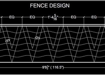 Wrought Iron Fence Cad Block Free Download