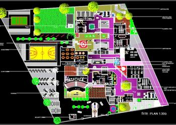 National Institute of Design Site Plan DWG Drawing