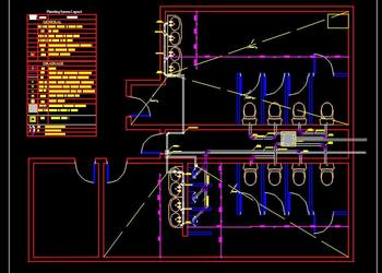 Public Toilet Plumbing Detail Plan DWG Free Download