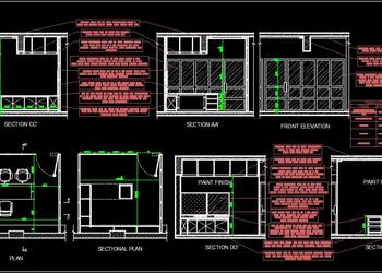 Office Cabin Interior Design Free DWG Drawing
