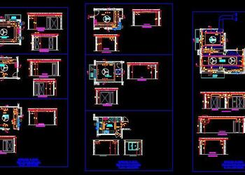 4 BHK House Floor Plan, HVAC, RCP, Electrical Cad DWG Drawing Detail