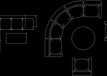 Sofa Set Free CAD Block Download