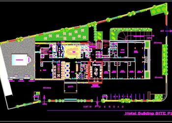 5 Star Hotel Ground Floor Layout Plan DWG Drawing File