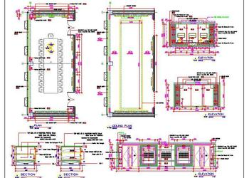 Formal Board Room, Conference Room DWG Working Drawing Detail