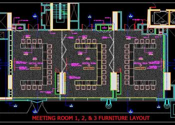 Meeting Room  Conference Room Interior Furniture Cad Layout Plan