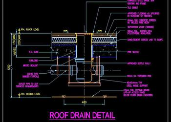 Roof Drain DWG Cad Detail