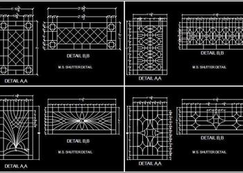 Wrought Iron Fence Cad Block- DWG Cad File
