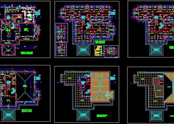 5 Star Hotel Design Autocad DWG Floor Plans
