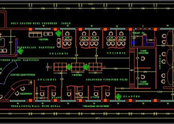 Bank Floor Plan Layout DWG File