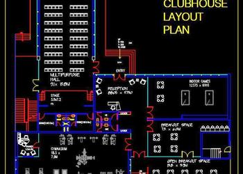 Clubhouse Layout Plan DWG File