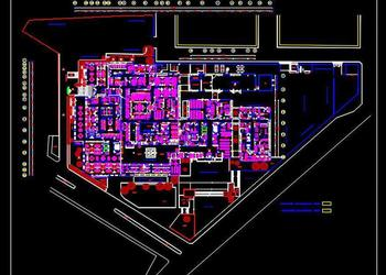 Multi Speciality Hospital Floor Plan DWG Drawing Download
