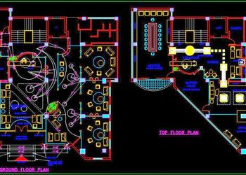 Office Design Layout, Flooring and Ceiling Plan Free DWG Drawing