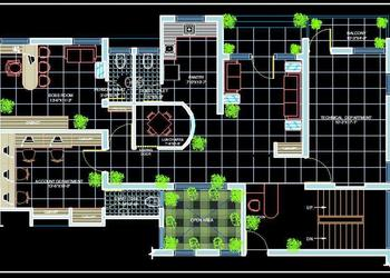Office Design Presentation Layout Plan DWG Drawing (50'x25')