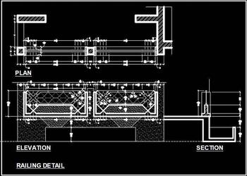 Balcony Railing Cad Block DWG Drawing
