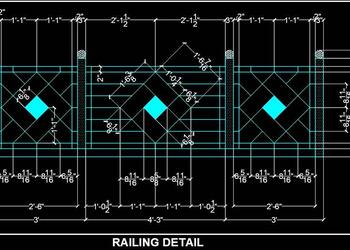 Balcony Railing Free Cad Block DWG Drawing