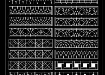 Iron Grill or Jali Designs Cad Block Download