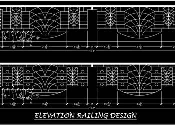 Iron Railing Design Free Cad Block Download