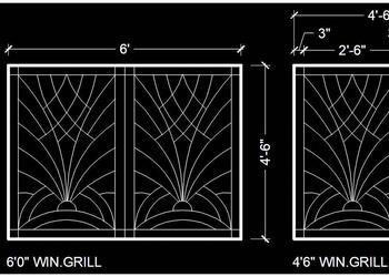 Modern Window Grill Design Cad Block DWG File Download