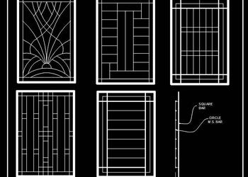 Window Grill CAD Block Free Download