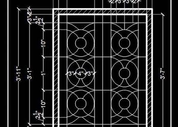 Window Grill Design Cad Block DWG File Download