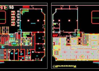 5 Star Hotel Ground Floor Layout and Ceiling Plan DWG Drawing File