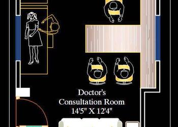 Doctor's OPD or Consulting Room DWG Furniture Layout Plan