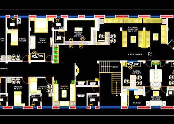 Hospital Floor Plan DWG Drawing Download