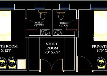 Hospital Patient Private Room Furniture Layout Plan