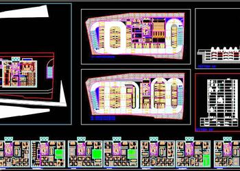 Multi Storey Office Building Architecture Design DWG Detail