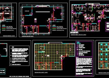 Office Design CAD Plan Working Drawing DWG File