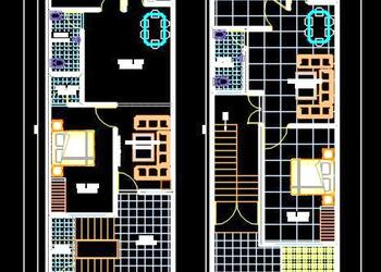House Space Planning 15'x60' Floor Plan Free DWG Download