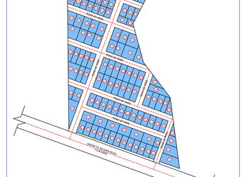 Residential Colony Plotted Layout Plan (3.5 Acre) DWG Drawing File