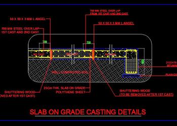 Slab On Grade Casting Details Free Dwg Drawing