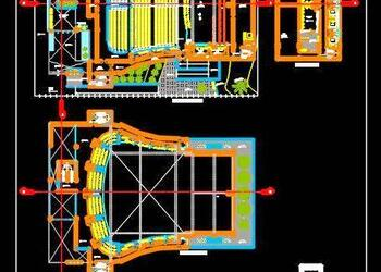 1000 Seater Auditorium Design DWG Detail Layout Plans and Sections