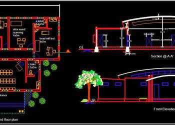Diagnostic Center Design DWG Drawing