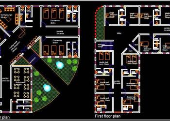 Guest House Layout Plan DWG File Free Download