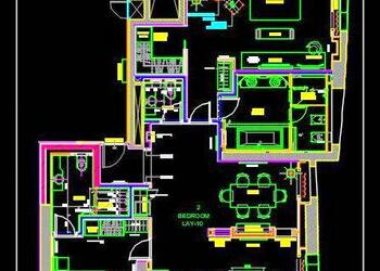 Luxurious Hotel Suite Room Floor Layout Cad Plan